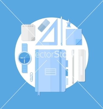 Free school education items vector - бесплатный vector #205363