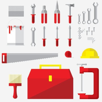Tools Flat Icons - vector gratuit #205543