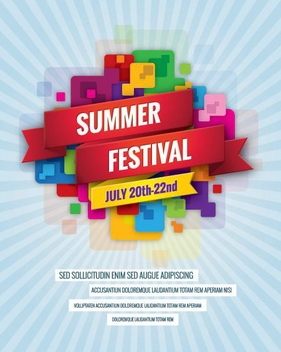Summer Festival Billboard - vector gratuit #205563