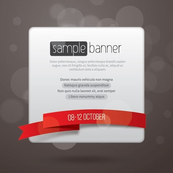 Promotional Banner Template - vector #205593 gratis