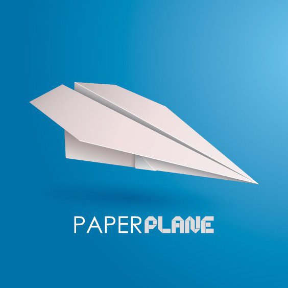 Paper Plane - Free vector #205823