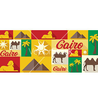 Free travel and tourism icons cairo vector - Free vector #205883