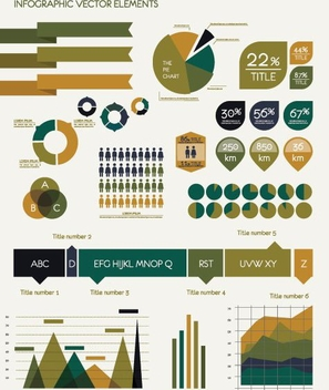 Infographic Vector Elements - vector #205933 gratis