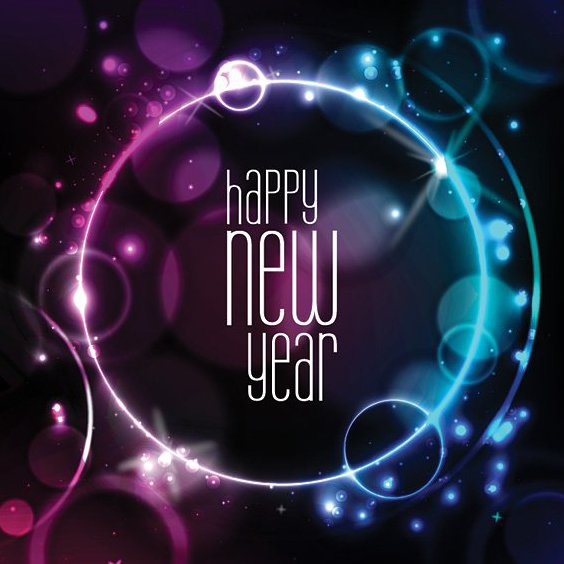 New Year Card - Free vector #205953