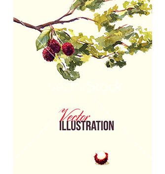 Free watercolor with branches vector - vector #206073 gratis