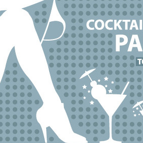 Cocktail Party - vector gratuit #206093