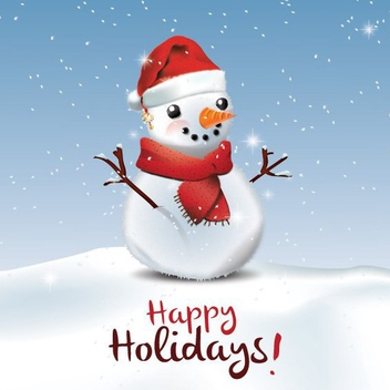 Happy Holidays Greeting Card - Free vector #206123