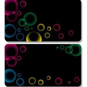 Gift Card With Bubbles - vector gratuit #206263
