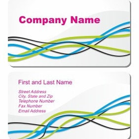 Business Card On White - Kostenloses vector #206303
