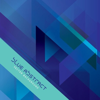 Blue Abstract Vector - Kostenloses vector #206333
