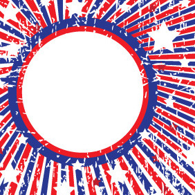 Fourth Of July Vector Grunge Banner - vector #206343 gratis