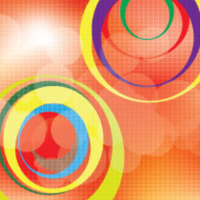 Orange With Circles Colored Bokha - Free vector #206363