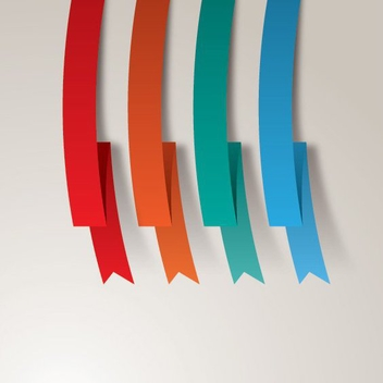 Colorful Ribbons - Free vector #206513