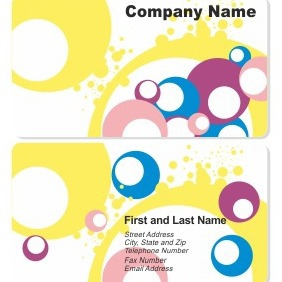Business Card Template - vector gratuit #206523