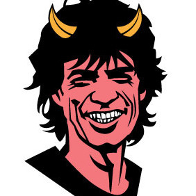 MIck Jagger Vector - Sympathy For The Devil - vector #206613 gratis