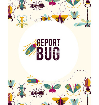 Free bug report abstract vector - бесплатный vector #206903