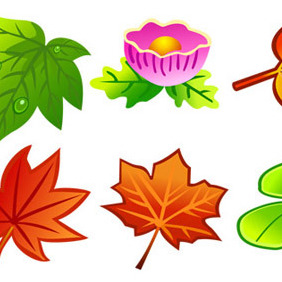 Free Vector Leaves - vector gratuit #206963