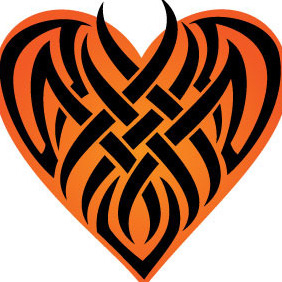Tribal Heart Shape - vector gratuit #207103