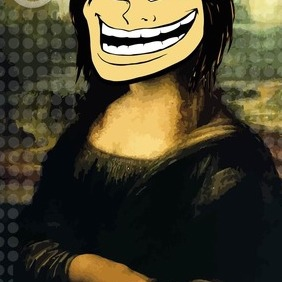 Troll Face Girl Vector - Free vector #207193