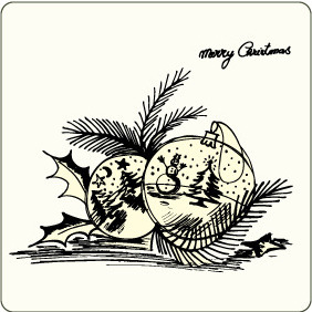 Christmas Illustration 4 - Free vector #207243