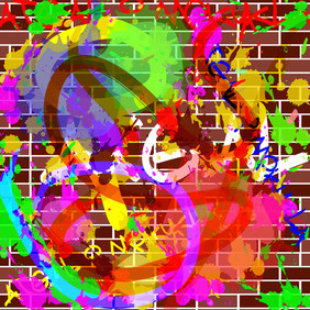 Asbtract Graffiti Free Vector - Free vector #207273