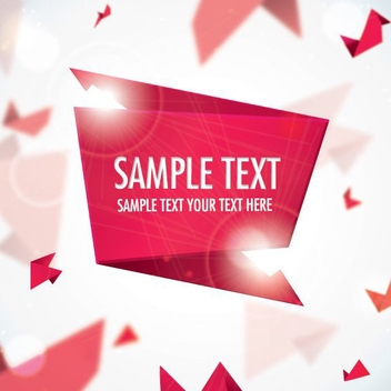 Origami Banner - Free vector #207533
