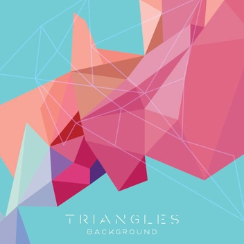 Triangles Background - vector gratuit #207573