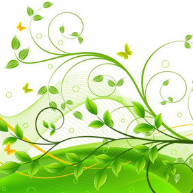 Foliage Composition - vector gratuit #207613