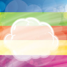 Transprent Clouds In Colored Vector - Free vector #207683
