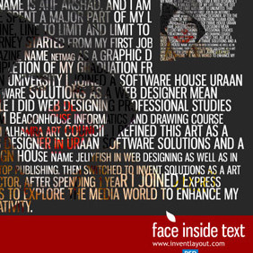 Face Inside Text Tutorial - бесплатный vector #207723