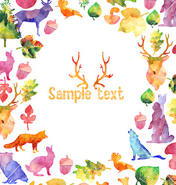 Free watercolor design elements frame vector - vector gratuit #207783