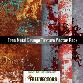 Free Metal Grunge Texture Vector Pack - Free vector #207793
