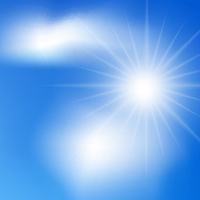 White Sun In The Sky - vector gratuit #207813