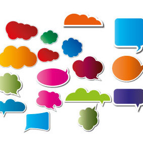 Speech Cloud And Bubbles Vector - Free vector #207833
