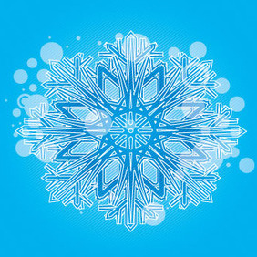 Blue Ornament With Lined Design - Kostenloses vector #207893
