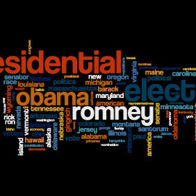 Presidential Election Word Cloud - Free vector #207993