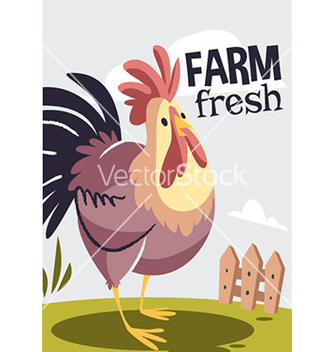 Free cartoon rooster design vector - Free vector #208023