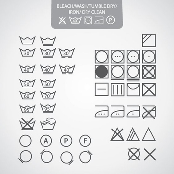 Dry Clean Icons - vector #208163 gratis