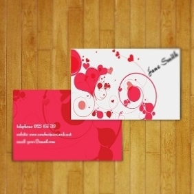 Business Card For Women - vector #208213 gratis