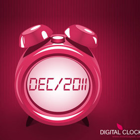 Digital Clock - vector gratuit #208293