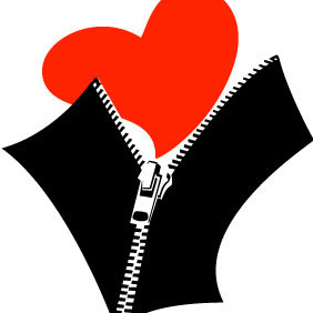 Zipped Heart Vector - Free vector #208543