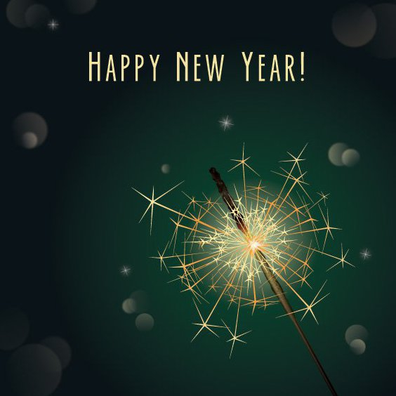 New Year Sparkler - Free vector #208553
