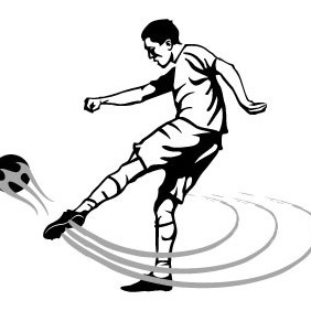 Soccer Volley Shot Vector - бесплатный vector #208733