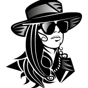 Lady Gaga Portrait - Free vector #208743