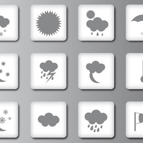 Weather Cast Icons - vector #208773 gratis