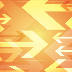 Orange Arrows Background - Free vector #208863