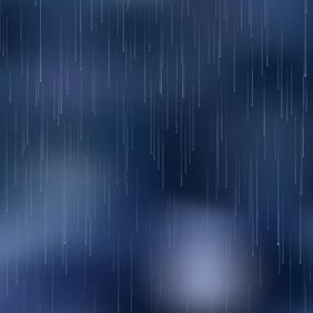 Night Rain - vector gratuit #208923