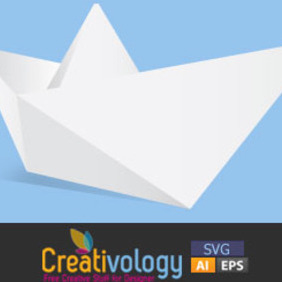 Free Vector Origami Boat - Free vector #208973