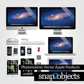 Free Photorealistic Vector Apple Products - Free vector #209073