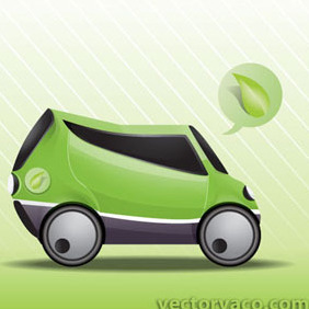 Eco Car Vector By Vectorvaco.com - vector gratuit #209363